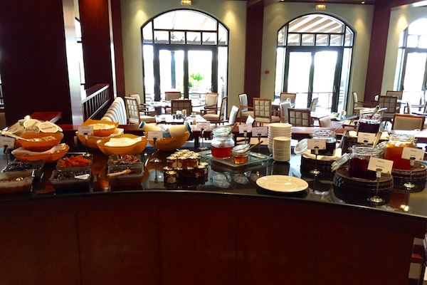 Yogurt and honey spread at Hyatt Regency Thessaloniki breakfast buffet