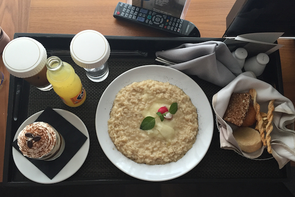 Room Service Risotto at The Met Hotel Thessaloniki
