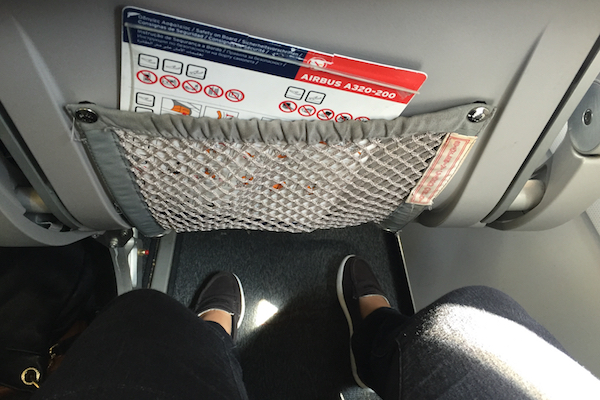 Aegean Airlines Economy Class Legroom SKG to CDG A320