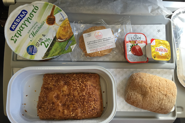 Aegean Airlines Economy Class Meal Thessaloniki to Paris