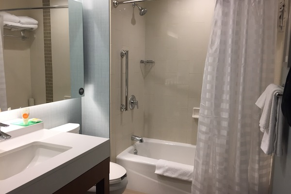 Hotel bathroom at Hyatt Place Chicago Downtown The Loop
