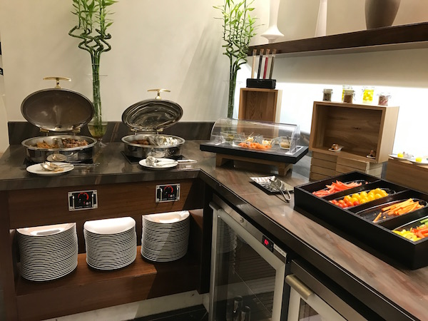 Conrad Makkah Club Lounge sushi and appetizers