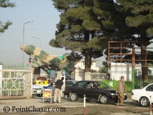 Parking Lot at Kabul Airport