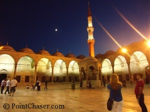 Sultanahmed Blue Mosque at night