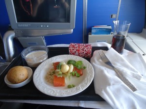 KLM Business Class Meal