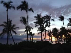 Sunset at Japengo Restaurant, Hyatt Regency Maui