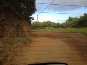 Unpaved road in Hana Maui