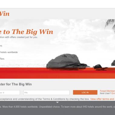IHG Rewards Big Win Promotion 2013