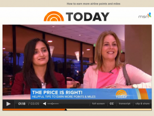 Today Show Earn More Points and Miles