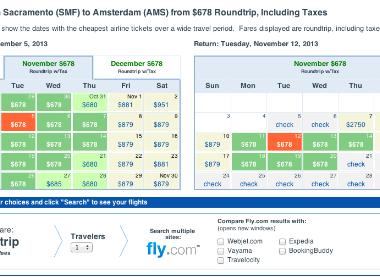 Fly.com Sacramento Fare Sale to Amsterdam and Paris