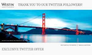 Westin St. Francis Twitter Deal