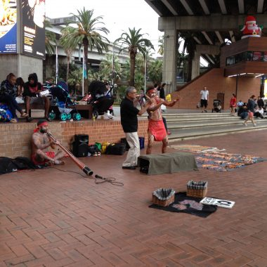 Australian Aboriginese Street Performers on Sydney Harbour