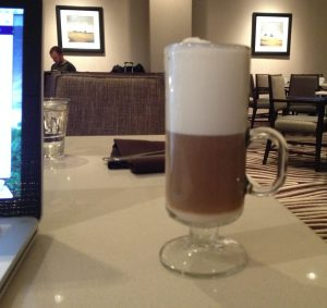 Latte at Vines Cafe Hyatt Regency Sacramento