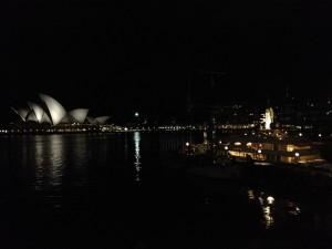 Park Hyatt Sydney Room View at night