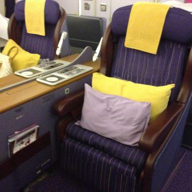 Thai Airways First Class Seat 747 Bangkok to Sydney