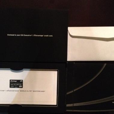 100,000 Mile Citi AAdvantage Executive Card Packaing