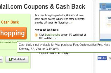 Visa Gift Cards Cash Back Extrabux