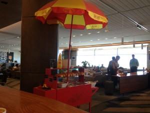 Hot Dog Cart at the Air New Zealand Lounge