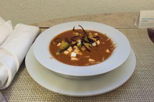 Chicken tortilla soup Hyatt Ziva Los Cabos