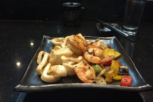 Dozo Hyatt Ziva Los Cabos Shrimp and calamari