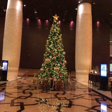 Conrad Dubai Hotel Lobby Christmas Tree