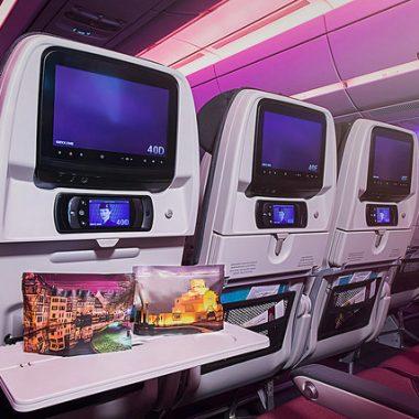 Qatar Airways Economy Class Cabin and Amenity Kit
