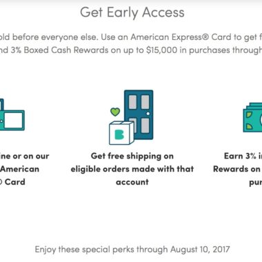 Boxed Amex Deal $25 off $65