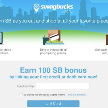 Swagbucks Local 10% Cash Back at Restaurants